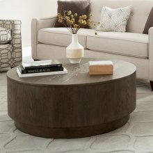 Joelle - Round Coffee Table - Carbon Gray Finish