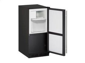 "1000 Series 15"" Crescent Ice Maker With White Solid Finish and Field Reversible Door Swing"