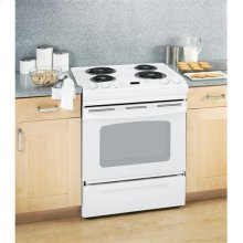 """GE® 30"""" Slide-In Electric Range with Self-Cleaning Oven (This is a Stock Photo, actual unit (s) appearance may contain cosmetic blemishes. Please call store if you would like actual pictures). This unit carries our 6 month warranty, MANUFACTURER WARRANTY and REBATE NOT VALID with this item. ISI 33206"""