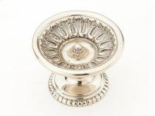 "Solid Brass, Symphony, Chalice, Round Knob, 2-1/8"" diameter, White Brass finish"