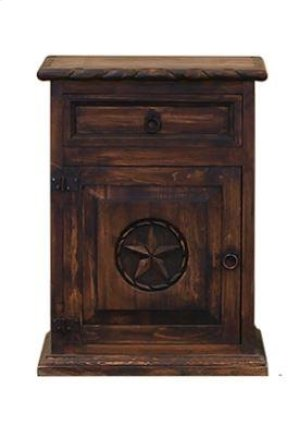 Nightstand W/Rope and Star (Left) Medio Finish