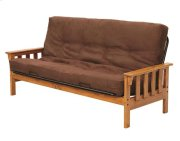Heartland Mission Futon Frame with options: Honey Pine, Mattress Included Product Image