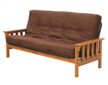 Heartland Mission Futon Frame with options: Honey Pine, Mattress Included