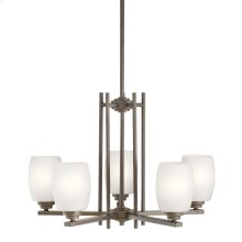 Eileen 5 Light Chandelier with LED Bulbs Olde Bronze®