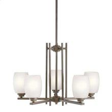 Eileen 5 Light Chandelier with LED Bulbs Olde Bronze®