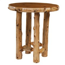 Round Pub Table - 32-inch - Natural Cedar