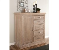 5-Drawer / 1-Door Chest Weathered Gray Product Image