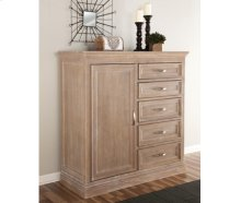 5-Drawer / 1-Door Chest Weathered Gray