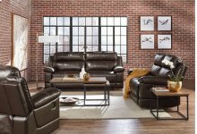 Manual Motion Leather Sofa