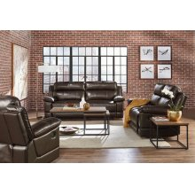 Manual Motion Leather Rocker Recliner