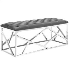 Intersperse Bench in Silver Gray