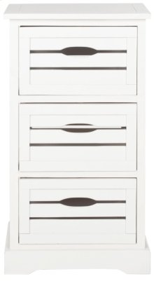 Samara 3 Drawer Cabinet - Distressed Cream