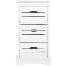 Samara 3 Drawer Cabinet - Distressed Cream