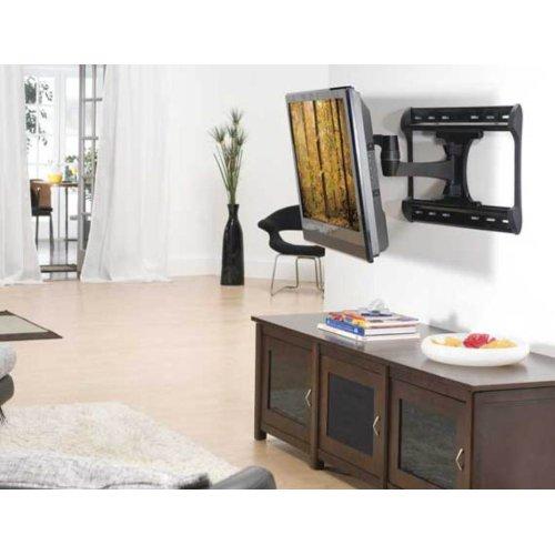 "Black Full-Motion Wall Mount for 37"" - 65"" flat-panel TVs - extends 28"" / 71.12 cm"