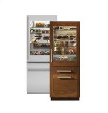 "Monogram 30"" Integrated Glass-Door Refrigerator for Single or Dual Installation"