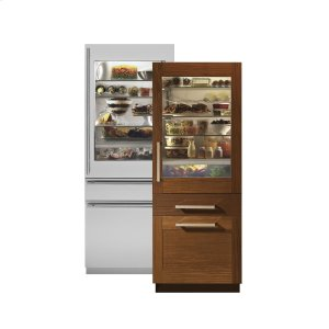 "MonogramMonogram 30"" Integrated Glass-Door Refrigerator For Single Or Dual Installation"