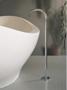Floor-mounted bath spout - Grey