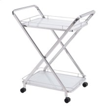 Vesuvius Serving Cart Stainless Steel
