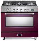 "Burgundy 36"" Dual Fuel Single Oven Range - Prestige Series Product Image"