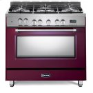 "Burgundy 36"" Dual Fuel Single Oven Range - Prestige Series Product Image"