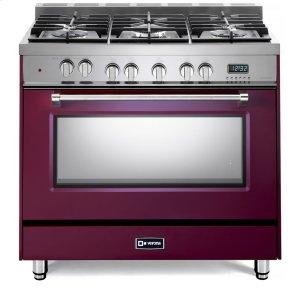 "VeronaBurgundy 36"" Dual Fuel Single Oven Range - Prestige Series"
