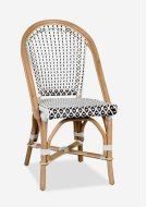 Outdoor Camelot Bistro Chair with Synthetic Wicker - White Brown-Minimum quantity 2 (17X24X35) Product Image