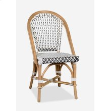 Outdoor Camelot Bistro Chair with Synthetic Wicker - White Brown-Minimum quantity 2 (17X24...