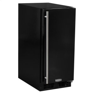 Marvel15-In Built-In All Refrigerator with Door Style - Black, Door Swing - Right