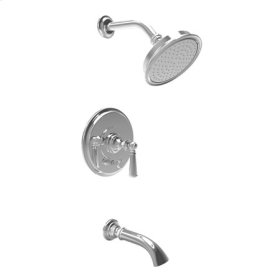 Uncoated Polished Brass - Living Balanced Pressure Tub & Shower Trim Set