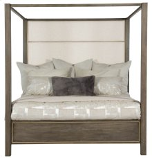 King-Sized Profile Poster Bed in Warm Taupe (378)