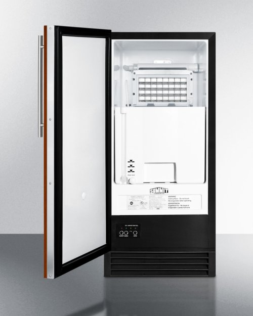 ADA Compliant Built-in Nsf-listed Automatic Defrost Clear Icemaker With Integrated Door Frame To Accept Full Overlay Panels and an Internal Pump