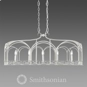 Smithsonian Gateway 5 Light Linear Pendant in French White