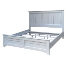 Cottage King Bed - Wht