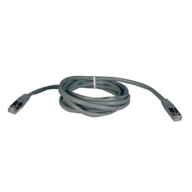 Cat5e 350MHz Molded Shielded Patch Cable STP (RJ45 M/M) - Gray, 7-ft.