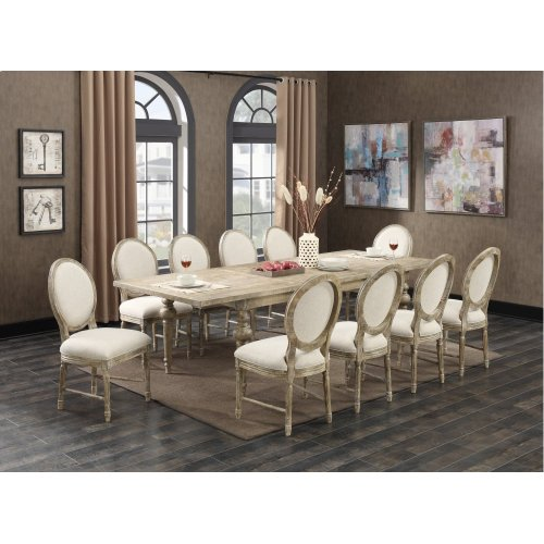 """Emerald Home Interlude Complete Dining Table W/28"""" Butterfly Leaf Sandstone D560-10-05-k"""