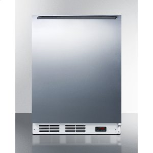 SummitADA Compliant Freestanding Medical All-freezer Capable of -25 C Operation, With Wrapped Stainless Steel Door and Horizontal Handle