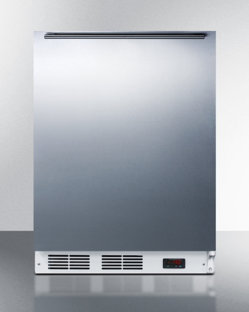 ADA Compliant Freestanding Medical All-freezer Capable of -25 C Operation, With Wrapped Stainless Steel Door and Horizontal Handle