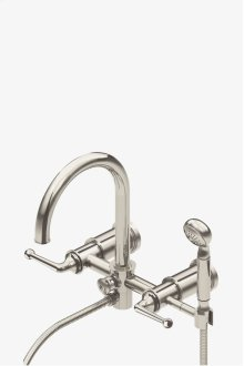 Dash Wall Mounted Exposed Tub Filler with Metal Handshower and Lever Handles STYLE: DSXT30