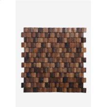 Terrace Wood Mosaic - Multi Brown (15.75X15.75X0.2) = 1.72 sqft