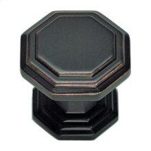 Dickinson Octagon Knob 1 1/4 Inch - Venetian Bronze
