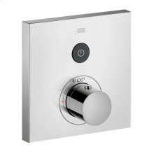 Chrome ShowerSelect Square Thermostatic 1-Function Trim
