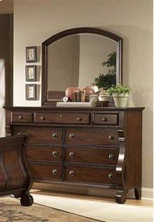 Drawer Dresser & Mirror w/Bevel