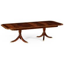 Regency Two-Leaf Mahogany Extending Dining Table