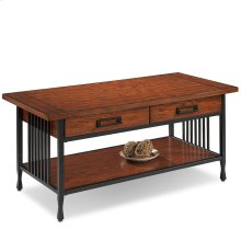 Two Drawer Coffee Table - Ironcraft Collection #11204