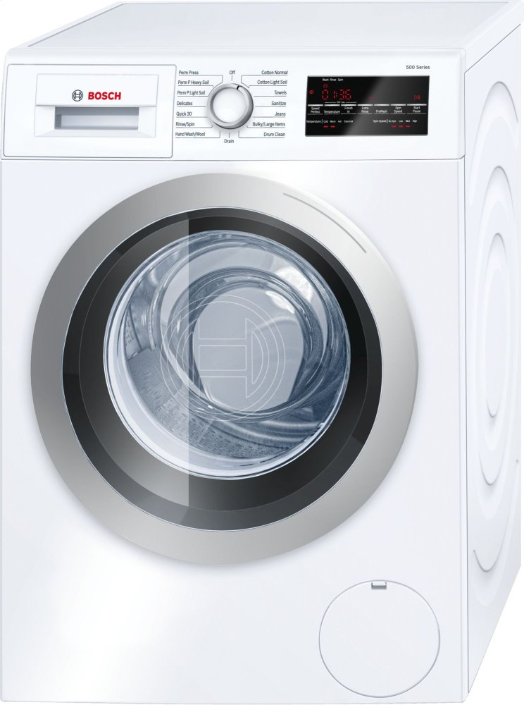 500 Series Washer - 208/240V, Cap. 2.2 cu.ft., 15 Cyc.,1,400 RPM, 52 dBA Silv./Door, AquaShield(R), ENERGY STAR