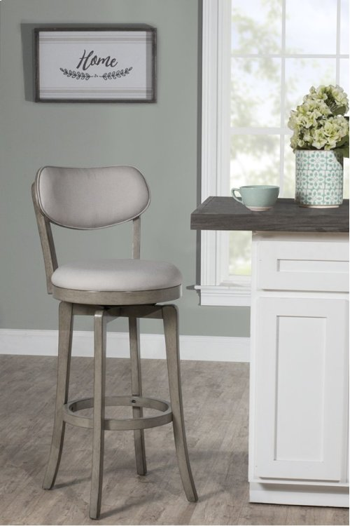 Sloan Swivel Bar Stool - Aged Gray