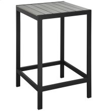 Maine Outdoor Patio Bar Table in Brown Gray
