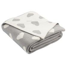 Truelove Knit Throw - Light Grey/natural