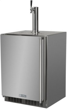 "Lynx 24"" Refrigerator w/Keg option, Left Hinge"