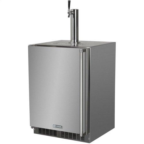 "Lynx 24"" Refrigerator w/Keg option, Left Hinge"